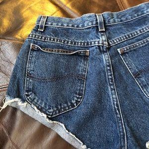 Lee Shorts - LEE VINTAGE HIGH WAISTED CUT OFF DENIM SHORTS